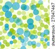 Green and blue polka dots seamless background pattern - stock photo
