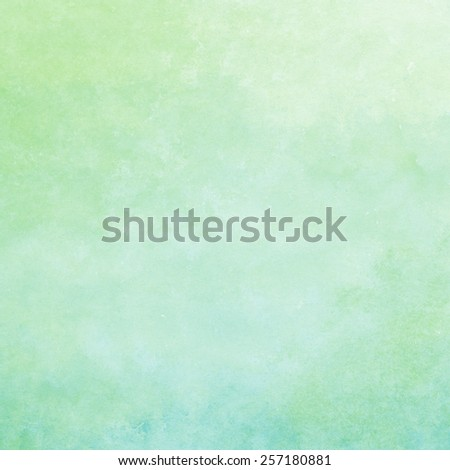green and blue watercolor texture background, hand painted - stock photo