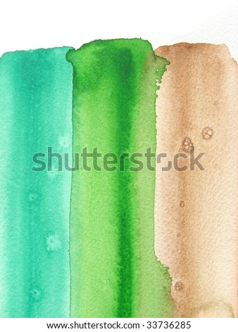 green and brown abstract watercolor background
