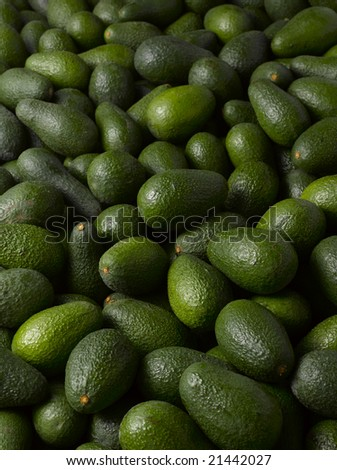 green and fresh avocados texture - stock photo