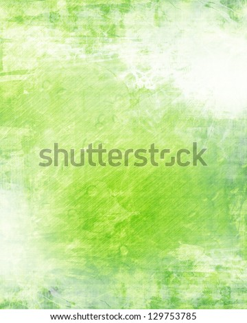 Green and fresh background with soft highlights and lines - stock photo