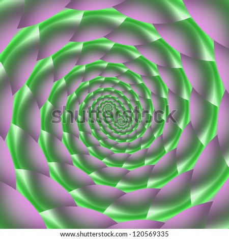Green and Lilac Spiral/Digital abstract image with a spiral design in green and lilac.