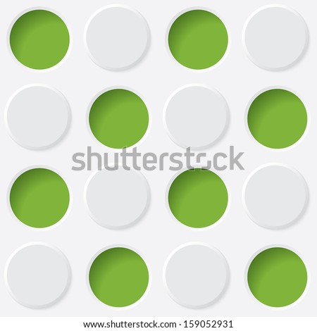 green and white circles.  seamless texture.(rasterized version)