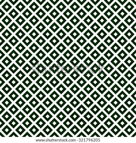 Green and White Diagonal Squares Tiles Pattern Repeat Background that is seamless and repeats - stock photo