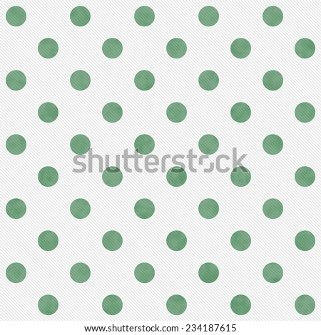 Green and White Large Polka Dots Pattern Repeat Background that is seamless and repeats - stock photo