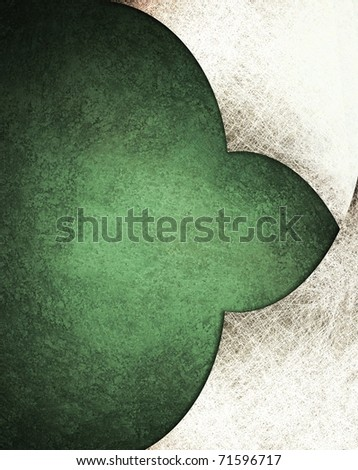 green and white parchment background with layers, grunge texture, faded soft lighting, and copy space to add title, text, or image to design layout - stock photo