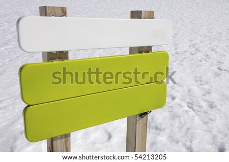 green and white signboard in the Pyrenees mountains, Spain - stock photo