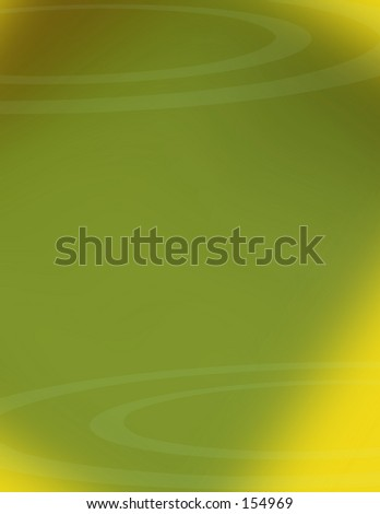 Green and Yellow background with circles. Great for a cover on a report. - stock photo