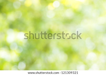 Green and yellow lights background - stock photo