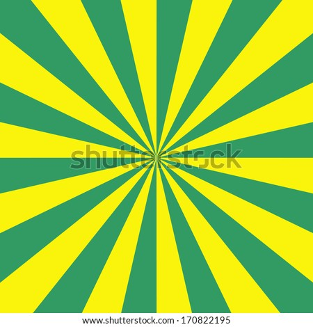 Green and Yellow Radiation / Digital abstract fractal image with a sunbeam design in green and yellow. - stock photo