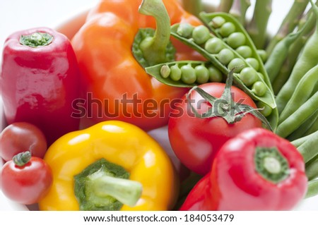 Green and yellow vegetables - stock photo