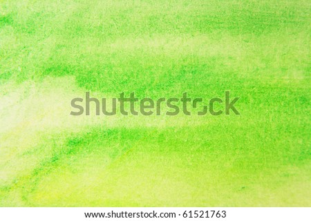 Green and Yellow Water Color Paint Texture