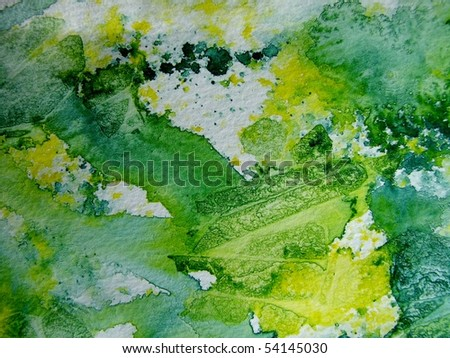 Green and Yellow Watercolor Textures 1