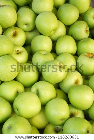 Green apple background - stock photo