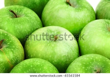 green apple background - stock photo