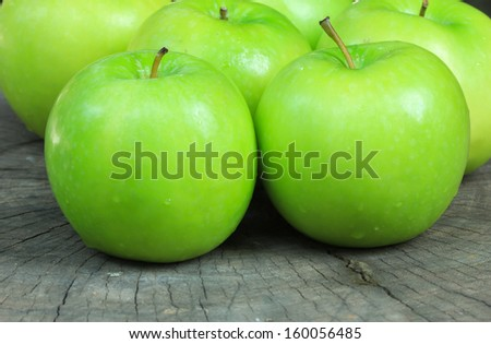 Green apple green apple background