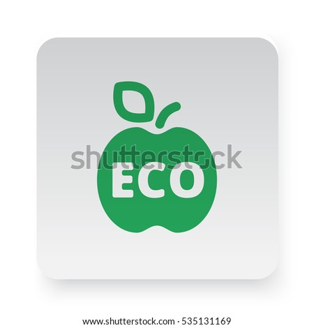 Green Apple icon in circle on white app button
