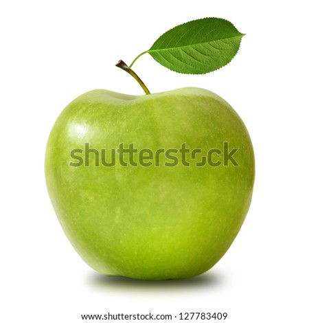 Green apple isolated - stock photo