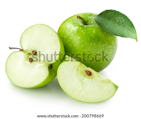 Green apple isolated. Clipping Path  - stock photo
