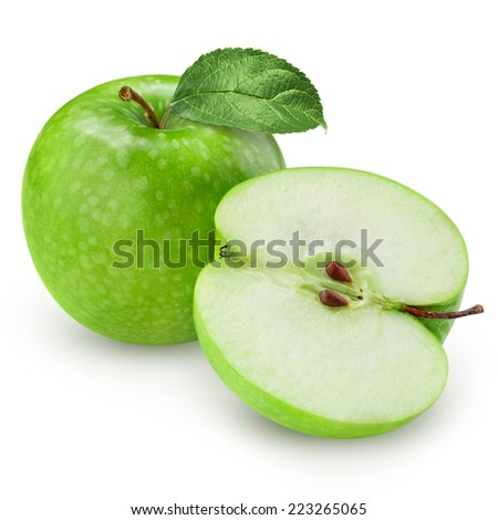 Green apple isolated Clipping Path  - stock photo