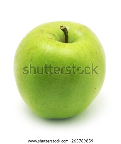 Green apple, isolated on white background