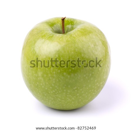Green apple isolated on white background