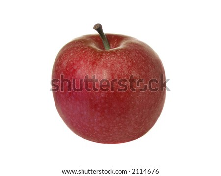 Green apple isolated over pure white background - stock photo