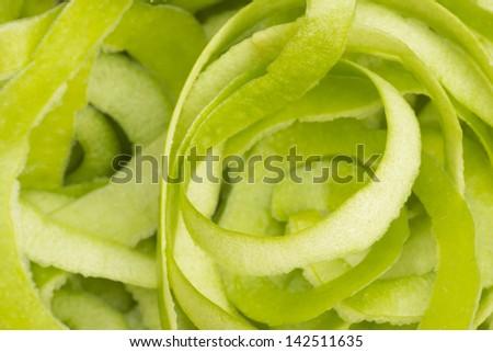 Green Apple Peel Non sharpen file - stock photo