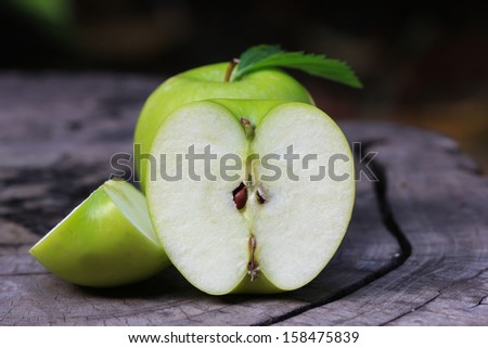 Green apple ripe. - stock photo