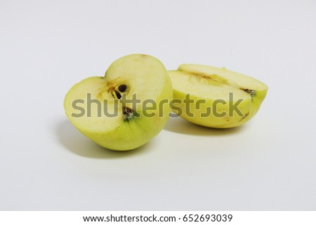 Green Apple, white background