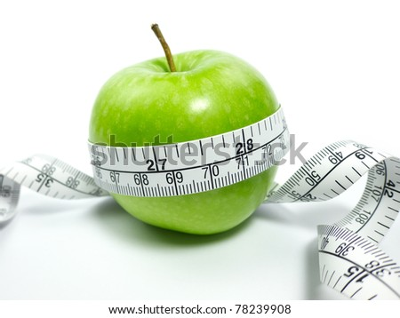Green Apple With Tape