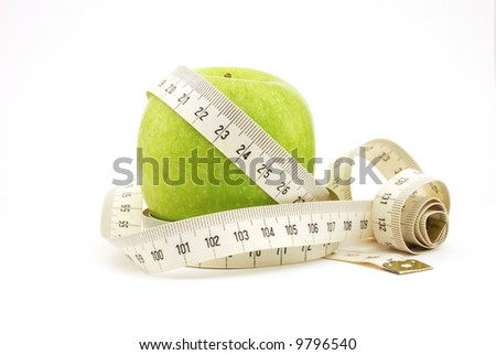 Green apple wound in the centimeter