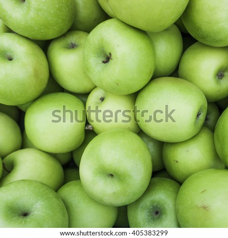 Green apples.  Group of green apples