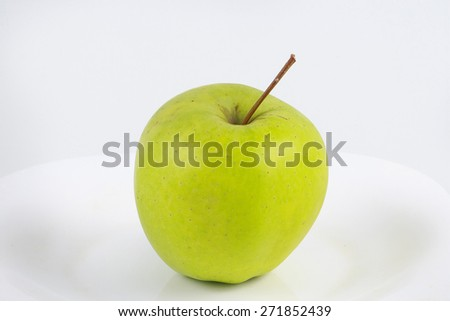 green apples on a plate