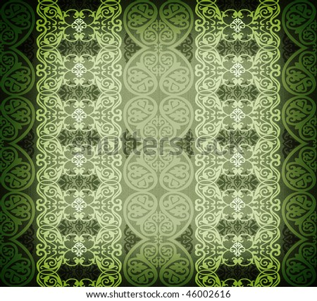 green arabesque background