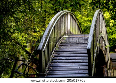 Green area around Erdre river, Nantes, Pays de la Loire, France, Europe - stock photo