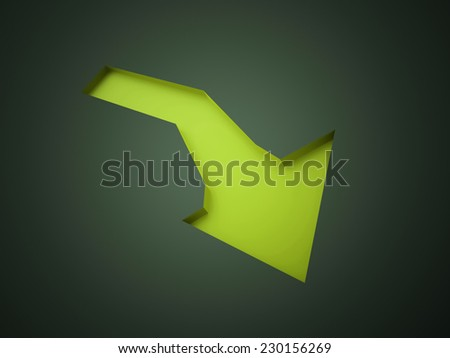 Green arrow business concept rendered  - stock photo