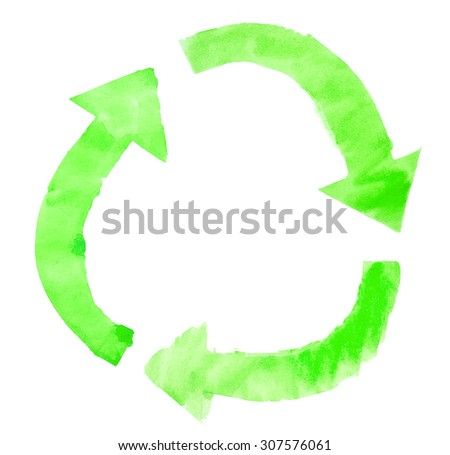 Green arrows - stock photo