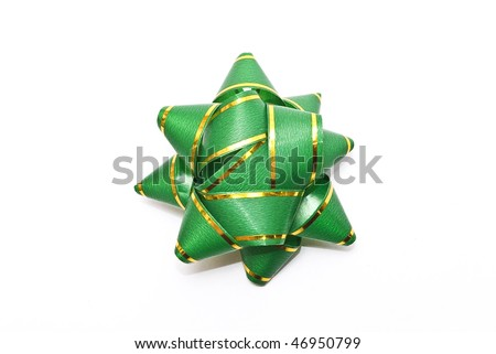 green asterisk from a tape - stock photo