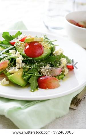 Small Skewers Mozzarella Tomato Basil Stock Photo ...