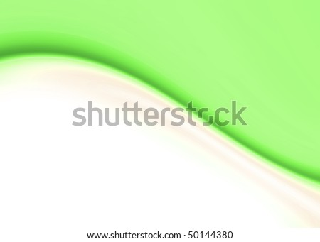green background abstract composition