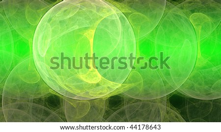 Green background, abstract design