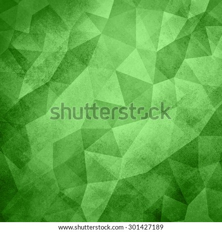 green background. Low poly green Christmas background. Triangle shapes in mosaic pattern of diamond facets, low poly triangular style background design texture - stock photo