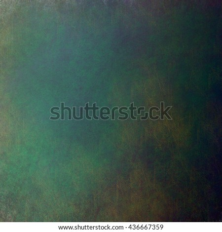 green background or green paper with bright spotlight on black background texture, for Christmas card or Christmas background or for St. Patrick's Day background, with vintage grunge texture - stock photo