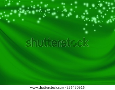 green background with bokeh - stock photo