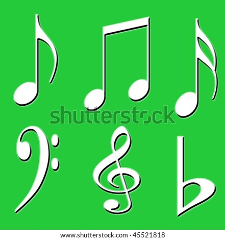 GREEN BACKGROUND WITH MUSIC SYMBOLS