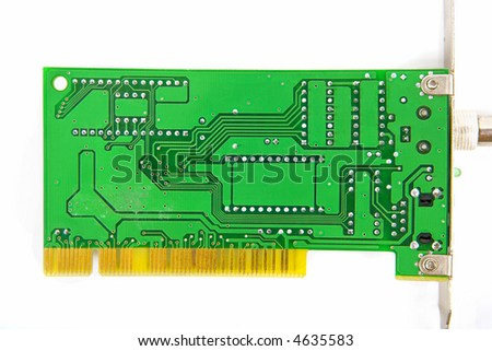 Green backside of circuit board