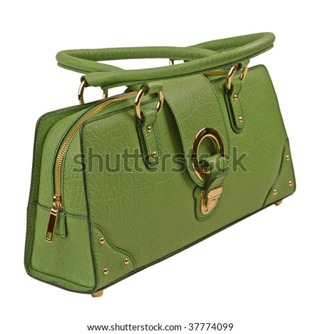 green bag - stock photo
