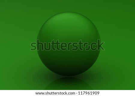 Green ball - stock photo