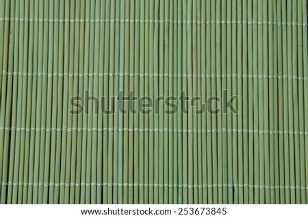 Green bamboo mat background. - stock photo